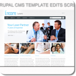 drupal cms custom graphics and php edits for encore lasers