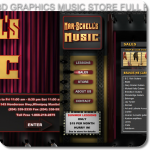 flash xml custom 3d graphics music store website